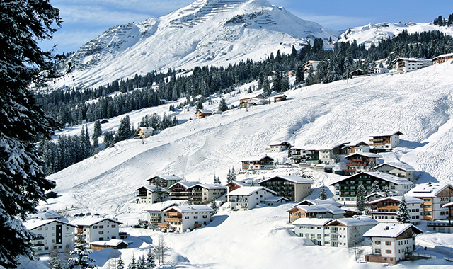 Lech am Arlberg in Vorarlberg, Austria