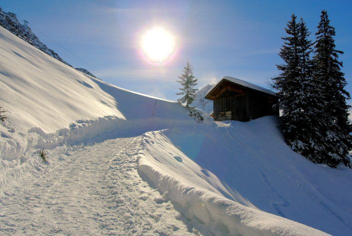 Spazierweg in Lech am Arlberg
